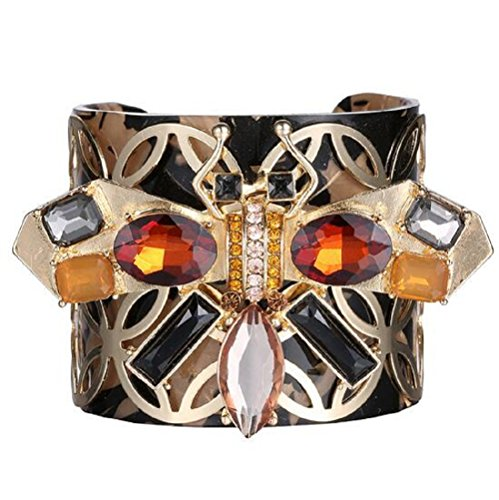 Yuriao Jewelry Fashion Unique Gem Diamond Accented Insect Cuff - Who Blog Celebrities