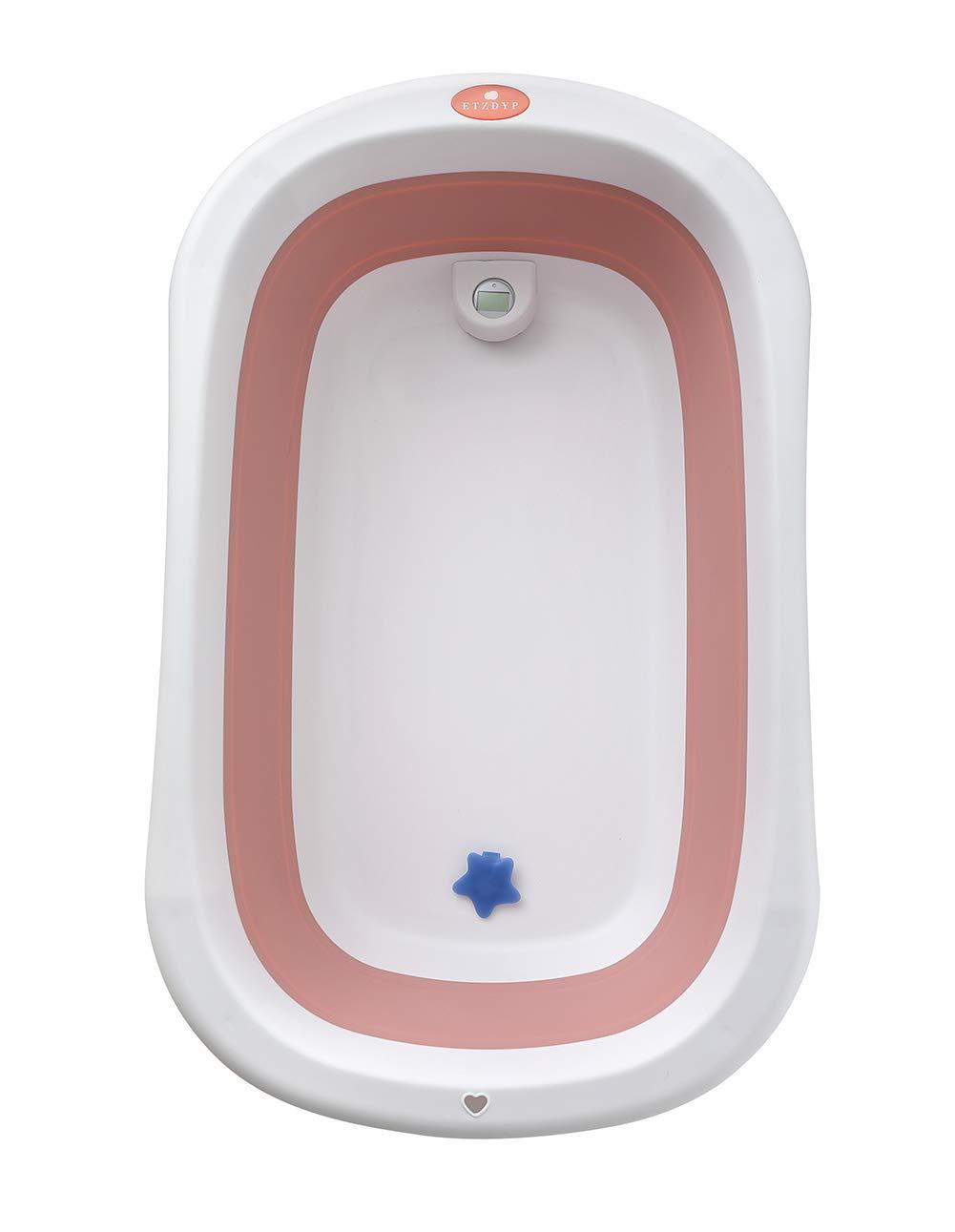 Glenmore Banera de Bebe Plegable con Patas para Ducha Ninos Nina Portatil Grande Infantil Azul