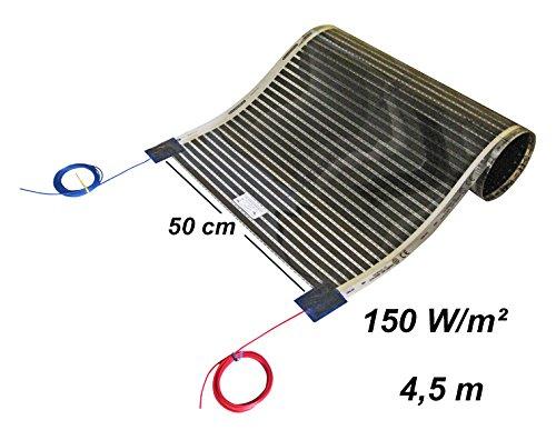 8/m Calor iQue Chemins De Chauffage Sol Film chauffant infrarouge chauffage Chauffage au sol Set 50/cm 150/W//m/²//longue 1 230.00 voltsV