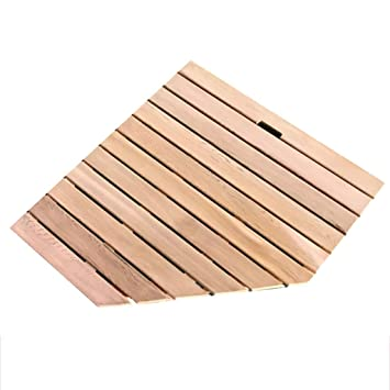 Bamboo Shower Mat Bathroom Bath Floor Mat Spa Sauna Non-Slip Resistant Wood Colo