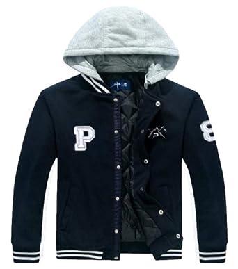 c7d16f1a48d2 Amazon.com  The Polar Club Boys  Fleece Varsity Baseball Jacket ...