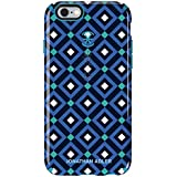 Speck Products CandyShell Inked Jonathan Adler Cell Phone Case for iPhone 6/6S - Retail Packaging - BlueGio/Peacock Glossy