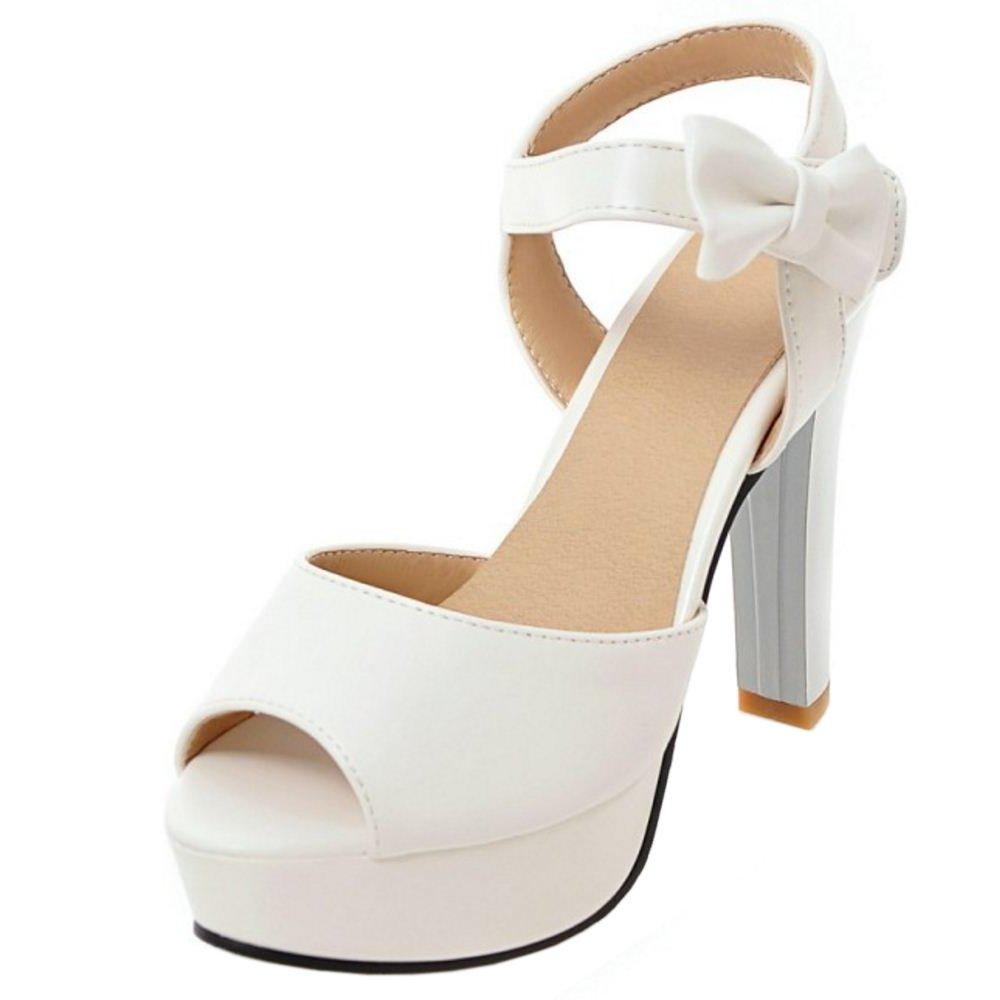 Zanpa Damen Moda Plateau Sandalen Bow 1#white 2018 Letztes Modell  Mode Schuhe Billig Online-Verkauf