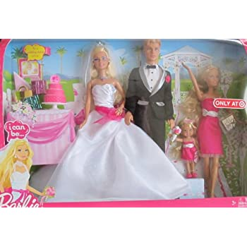 Amazon Com Barbie I Can Be Wedding Gift Set W Barbie