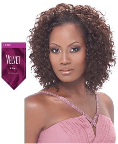 OUTRE Velvet Remi Human Hair Weave - SPANISH WAVE WEAVING 10S-F1B/33 (Wave Spanish)