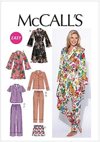 McCalls Ladies Easy Sewing Pattern 6659 Pyjamas /& Dressing Gown McCalls-...