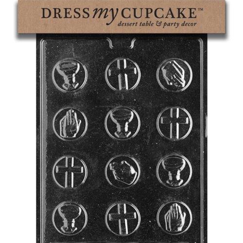 Dress My Cupcake DMCR018 Chocolate Candy Mold, Communion Mints]()