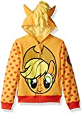 My Little Pony Girls' Little Apple Jack Costume Zip-up Hoodie, Orange/Yellow, 6X