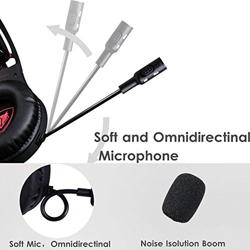 Xbox One Headset, Ps4 Gaming Headphone with Mic Mute