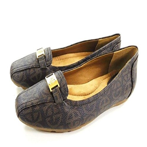 Giani Bernini Womens Jileese Square Toe Loafers Brown Mix SLc7R