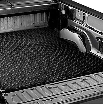 For 1999-2007 Silverado//Sierra 6.5/' Black Rubber Diamond Truck Bed Rug Floor Mat