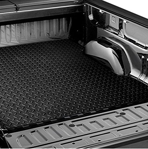 R&L Racing Black Rubber Diamond Plate Truck Bed Trunk Floor Mat Carpet for 04-17 Titan 5.7 Ft