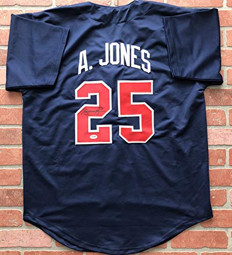 Andruw Jones autographed signed jersey MLB Atlanta Braves PSA COA All Star