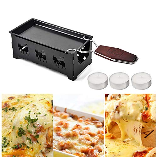 (Lannmart Mini Solid Wood Handle Cheese Plate Baking Tools Cheese Tray Home Baking Oven Microwave Oven use Non-Stick Cheese pan)