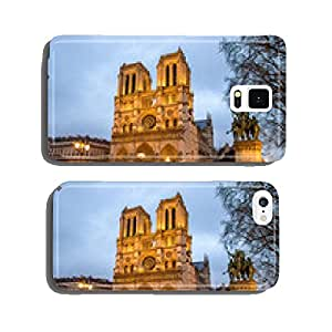 Evening view of the Notre-Dame de Paris - France cell phone cover case iPhone5