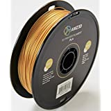 1.75mm Gold PLA 3D Printer Filament - 1kg Spool (2.2 lbs) - Dimensional Accuracy +/- 0.03mm