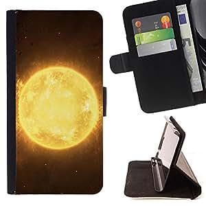 - The Sun Plaanet In Space/ Personalizada del estilo del dise???¡¯???¡Ào de la PU Caso de encargo del cuero del tir???¡¯????n del s - Cao - For Samsung Ga