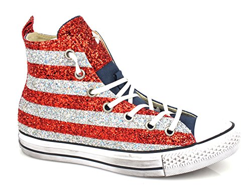 Ltd Donna Star Colorerosso Hi Converse Textile Mod Alte Limited 1c15ho08 Art Edition Usa Bandiera Canvas Blu Scarpe All P05qUwxn