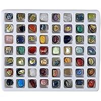 Lot découverte de 56 pierres semi-précieuses - 1,5 cm environ
