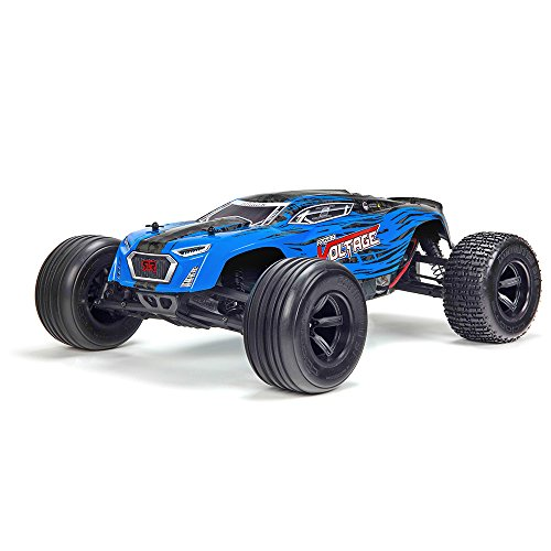 10th Scale Stadium Truck - ARRMA FAZON VOLTAGE MEGA 2WD Electric RC RTR Remote Control SRS Speed Truck with 2.4GHz Radio, Battery (x2), and Charger, 1:10 Scale (Blue/Black)