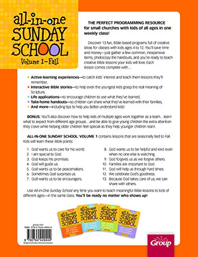 All-in-One Sunday School for Ages 4-12 (Volume 1): When you have kids of all ages in one classroom by Group Publishing (Image #1)