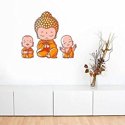 Sticker Studio Little Buddha Wall Sticker & Decal (PVC Vinyl,Size - 58 x 50 cm)