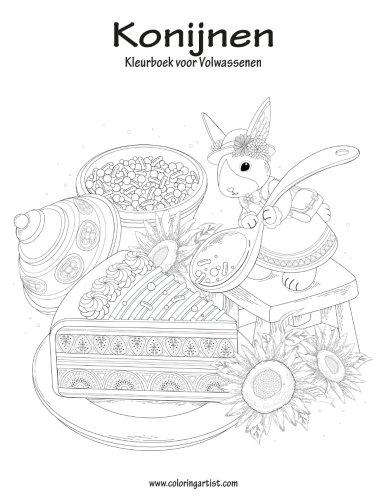 Konijnen Kleurboek voor Volwassenen 1 (Volume 1) (Dutch Edition)
