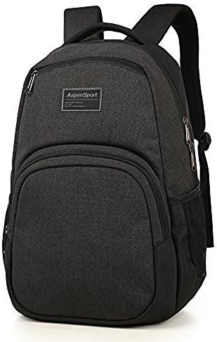 ASPENSPORT School Backpack fit 15.6 Lightweight Casual Daypack Water Repellent