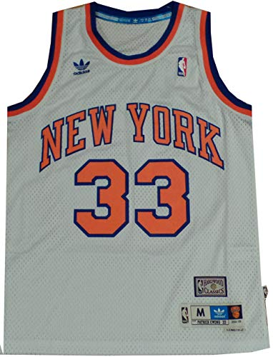 (adidas White New York Knicks Patrick Ewing Swingman Jersey (XL) )