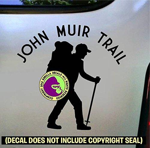 JOHN MUIR TRAIL Hiker Vinyl Decal Sticker B