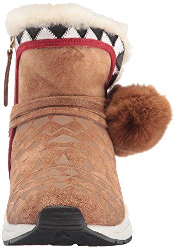 Aske Kvinners Mongolia Boot Crepe / Svart / Hvit / Rød ...