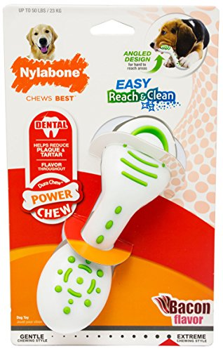 Nylabone Power Chew Extreme Chewing Reach and Clean Chew Toy Bacon Giant