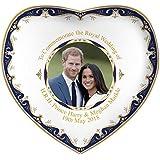 Royal Heritage H.R.H Harry and Megan Markle Wedding Commemorative Heart Shape Dish, Fine China, Multi-Colour, 15 x 14.5 x 2 cm