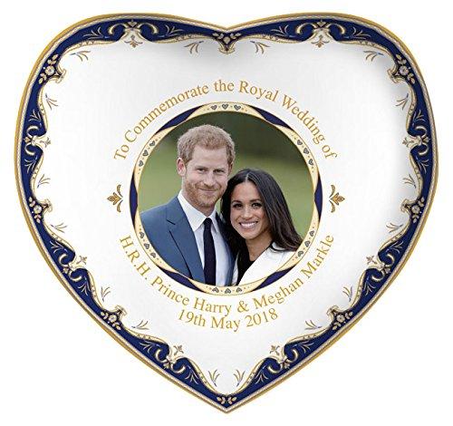 Royal Heritage H.r.h Harry et Megan Markle Mariage commémorative en Forme de cœur Plat, en Porcelaine Fine, Multicolore, 15x 14.5x 2cm Lesser & Pavey Ltd LP18086