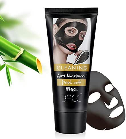 Blackhead Remover Black Mask From Bea Luz, Purifying peel off mask with Activated Charcoal Deep Pore Cleanse for Acne, Oil Control Peel-Off Mask 60g