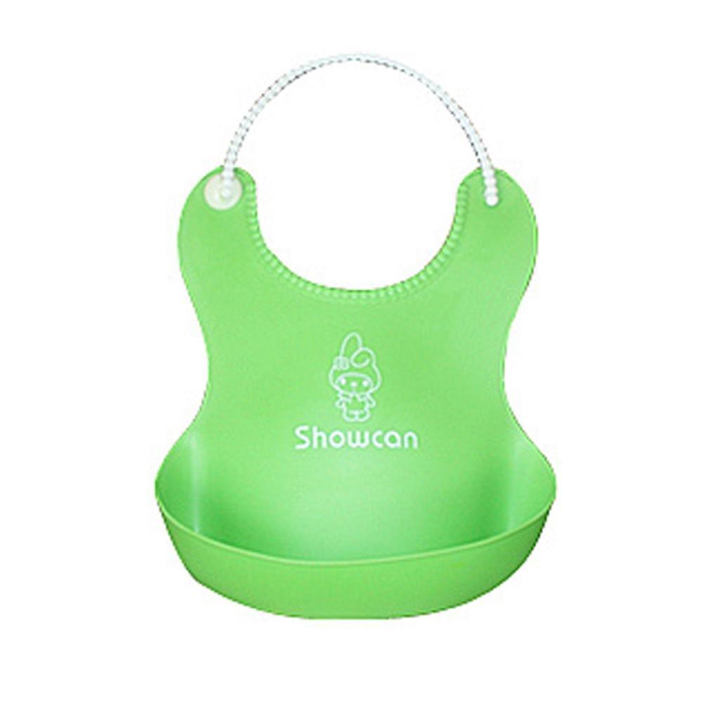 Baby Cute Silicone Bibs, Misaky Baby Lunch Bibs Cute Waterproof Bibs (Free Size, Green)