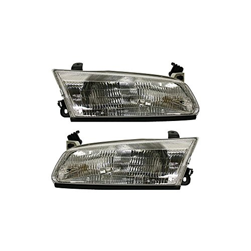 Evan-Fischer EVA13572056238 Headlight Set of 2 for 97-99 Toyota Camry CE Right and Left Side Assembly Halogen