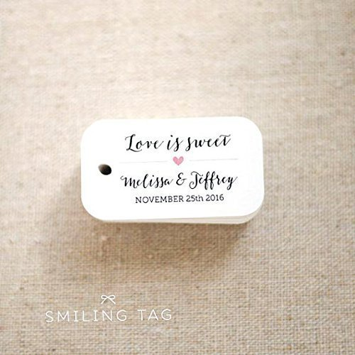 amazon com love is sweet wedding favor tags personalized gift