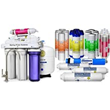 iSpring RCC7AK 6-Stage Residential Under-Sink Reverse Osmosis Water Filter System w/ Alkaline Remineralization - WQA Gold Seal Certified, 75 GPD & ISPRING F28K75 6-Stage 75GPD Alkaline RO 3-Year Supply Filter Pack
