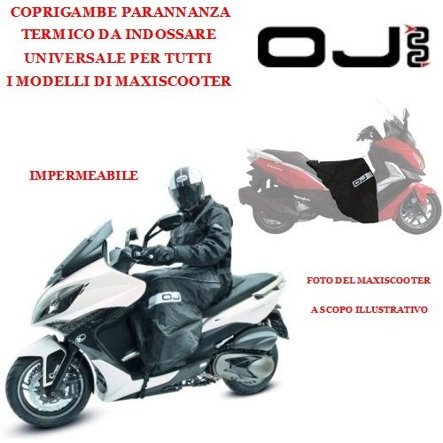 Saco té rmico para Maxiscooter Oj C003 universal impermeable parannanza montaje rá pido ú nica Talla Negro OJ ATMOSFERE METROPOLITANE