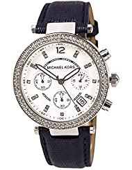 Michael Kors Watch MK2293 Parker Navy Leather Strap 39mm