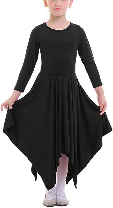 Vestidos Danza Cristiana Maillot Larga para Mujer Niñas Chica ...