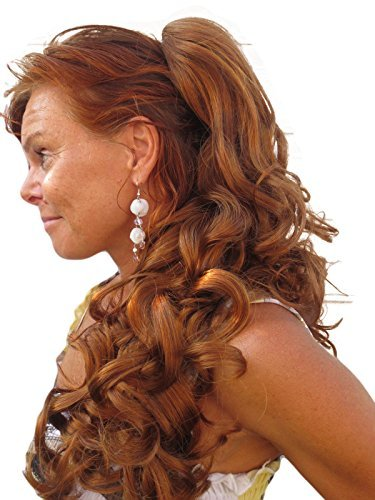 Hair Extension Ginger - Pony Tail Hair Extension In Our Unique Ginger Red Mix Colour [Health And Beauty] Synthetic