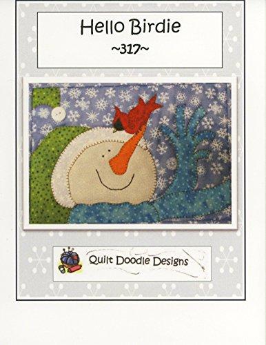 Quilt Doodle Designs QDD317 Hello Birdie Mug Rug Pattern (Snowman Pattern Quilt)