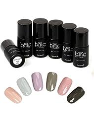 BMC 6pc Nude Color Themed UV/LED Nail Lacquer Gel Polish...