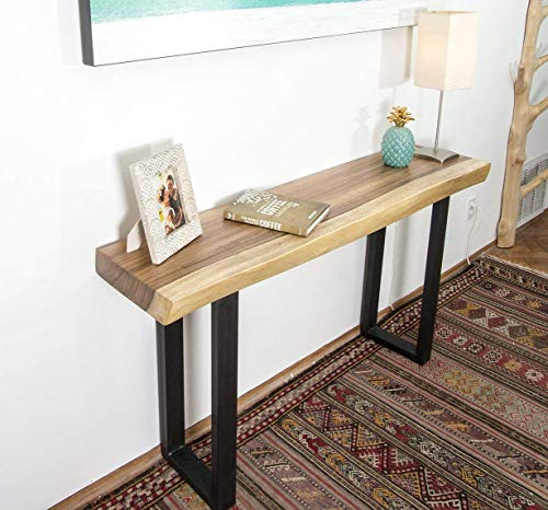 Live Edge Wood Slab Console Table ()