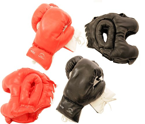 Gears Pairs Boxing Gloves Black