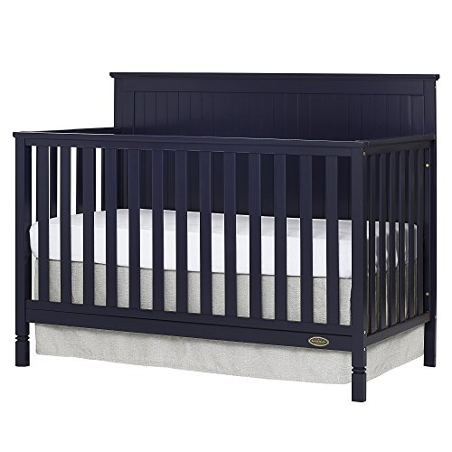 Dream On Me Alexa 5 in 1 Convertible Crib, Navy