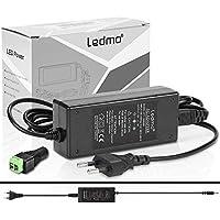 LEDMO® 12V 5A voeding adapter transformator 60W LED transformator, universele voeding AC110-240V, voeding geschikt voor…
