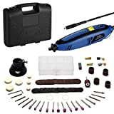 Holife Rotary Tool Kit with Flex Shaft Variable Speed, 4 Attachments, 116 Accessories and Suitcase, Multi-function Rotary Tool for Routing, Metal Cutting, Wood Carving, Jewelry Drilling, and Polishing